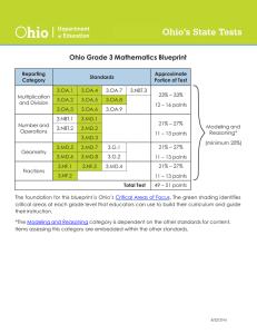 1 Quarter Math Common Core Curriculum Grade