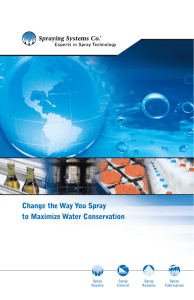 Change the Way You Spray to Maximize Water Conservation