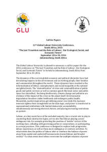 Call for Papers 11th Global Labour University Conference, South