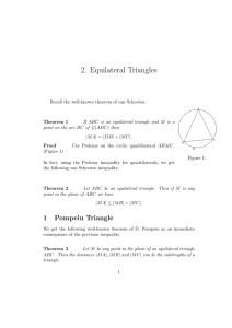 2. Equilateral Triangles
