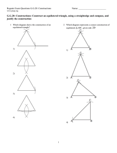 G.G.20: Constructions: Construct an equilateral triangle, using a
