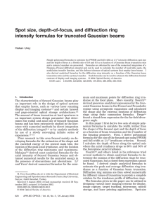 Spot size, depth-of-focus, and diffraction ring