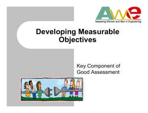 Developing Measurable Objectives