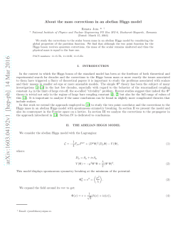 About the mass corrections in an abelian Higgs model