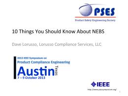 10 Things You Should Know About NEBS