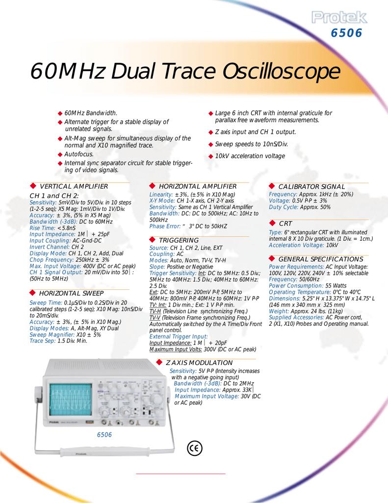 60MHz Dual Trace Oscilloscope