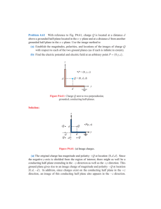 Problem 4.61 With reference to Fig. P4.61, charge Q is located at a