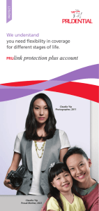 PRUlink protection plus account - Prudential Insurance Singapore