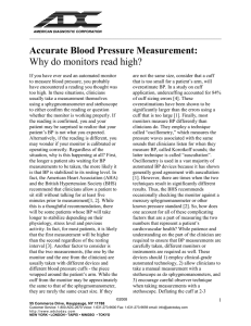Accurate Blood Pressure Measurement