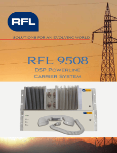 RFL 9508 - RFL Solutions for an evolving world