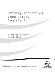 Primary Industries Food Safety Legislation