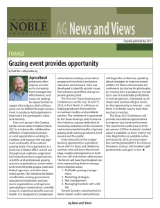Grazing event provides opportunity (PDF version)