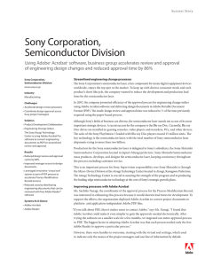Sony Corporation, Semiconductor Division