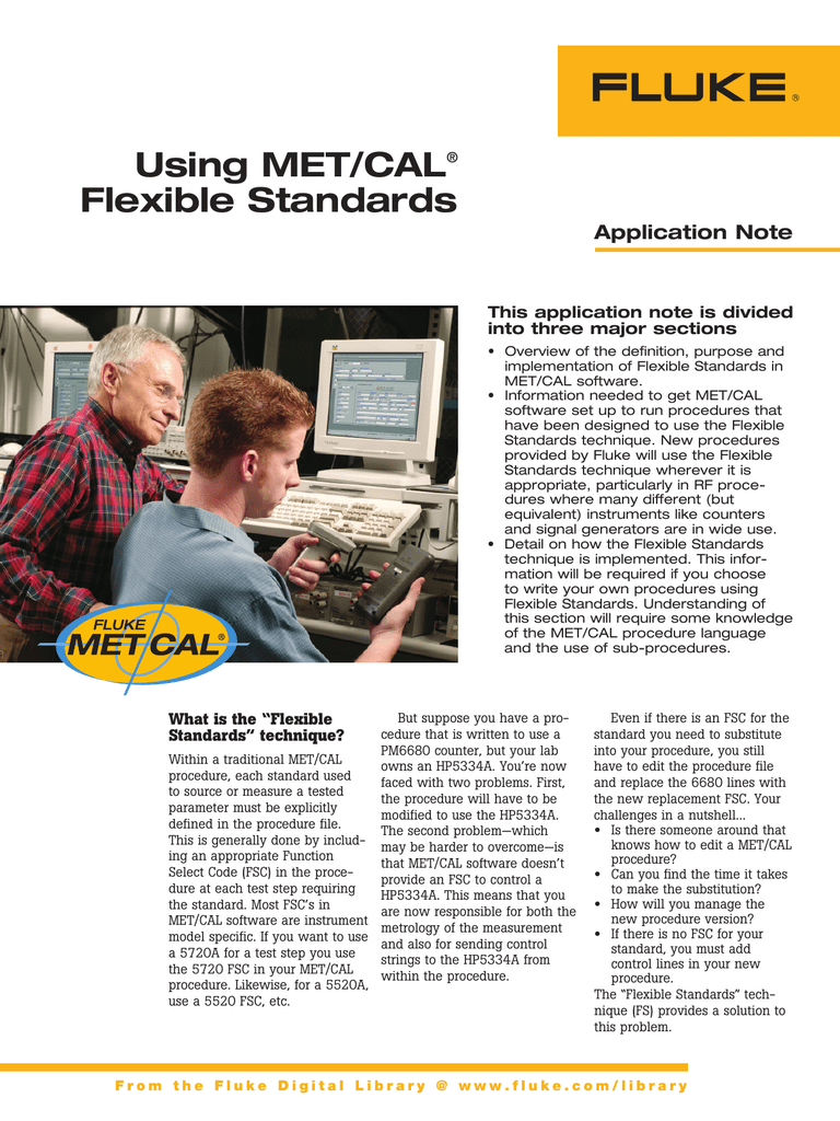 Using MET/CAL® Flexible Standards