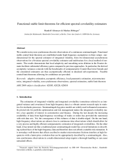 Functional stable limit theorems for efficient spectral covolatility