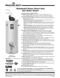Residential Power Direct Vent Gas Water Heater