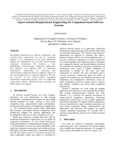 Aspect-oriented Requirements Engineering for Component