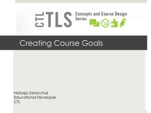 Creating Course Goals