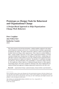 Prototypes as (Design) Tools for Behavioral and Organizational