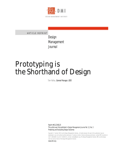Prototyping is the Shorthand of Design