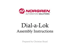 Dial-a-Lok Assembly Instructions