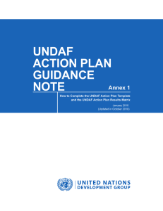 UNDAF Action Plan Guidance Note