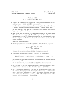 Problem Set 4 - Institute of Theoretical Computer Science