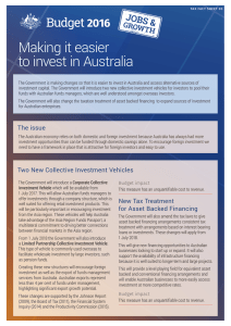 New Collective Investment Vehicles