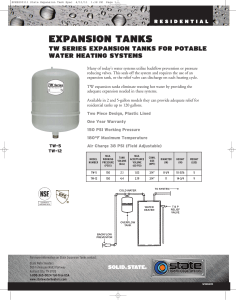 expansion tanks - State Water Heaters