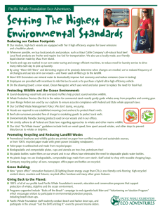 Setting The Highest Environmental Standards