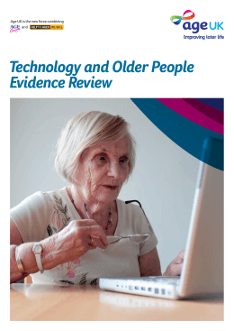 Technology and Older People Evidence Review