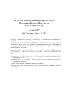 ECEN 248: Introduction to Digital System Design Department of