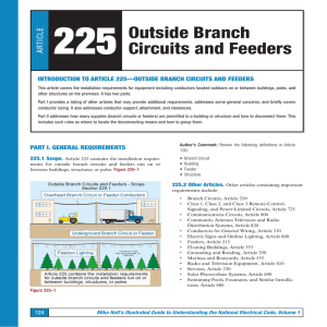 TICLE 225 Outside Branch Circuits and Feeders