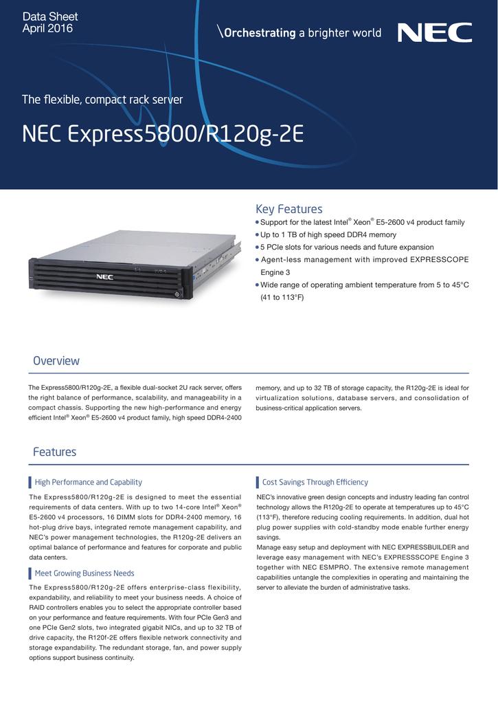 NEC Express5800/R120g-2E