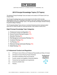 2015 Principal Knowledge Topics (72 Topics)