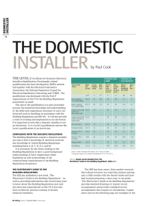 Part P domestic installer