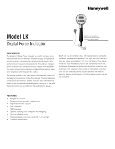 Model LK - Honeywell Test and Measurement Sensors