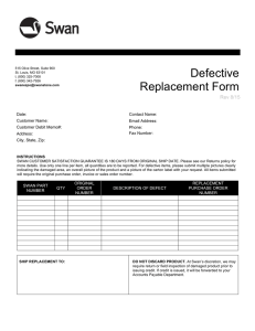 Defective Replacement Form