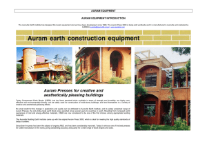 Auram Presses for creative and aesthetically pleasing buildings