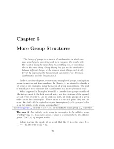 Chapter 5 More Group Structures