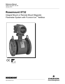 rosemount 8750wa magnetic flowmeter manual