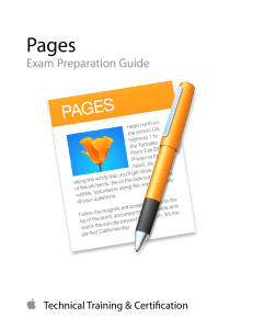 Pages Exam Preparation Guide - Training