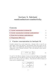Lecture 5: Intrinsic semiconductors-conductivity