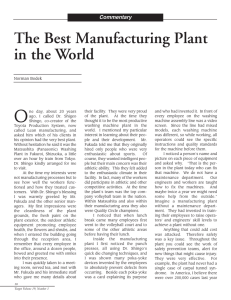 The Best Manufacturing Plant in the World