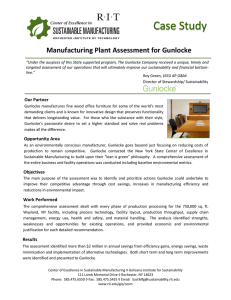 Manufacturing Plant Assessment for Gunlocke