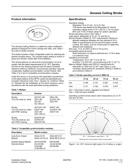 installation sheet  genesis wg4 speaker strobe