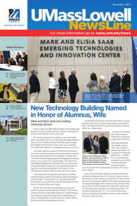 New Technology Building Named in Honor of Alumnus, Wife