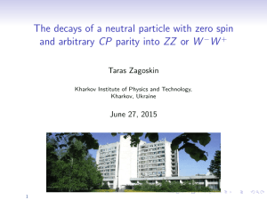 The decays of a neutral particle with zero spin and arbitrary CP