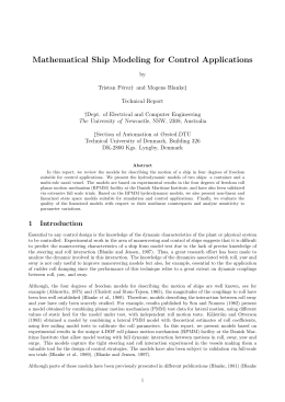Mathematical Ship Modeling for Control Applications
