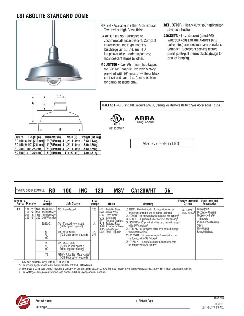 Lsi Abolite Standard Dome Diagram Of The Incandescent Light How Flourescent 018249275 1 A4dffc623ea318315ad0280393ec7925